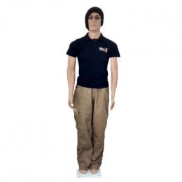 Manequim Masculino Corpo e Cabeça + Base