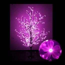 Árvore LED Fúcsia 12 Galhos H:2,20m