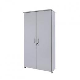 Armário (Escritório) Vertical 2 Portas Cinza Cristal C/ Chave 0,60X0,35x1,60M (LxPXH)