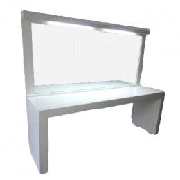 Penteadeira Camarim Branca C/ Espelho C/ Ilum. T8 2,00x0,50m H: 0,80