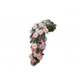 Arranjo Floral Desconstruido Artificial Rosas Rosa