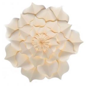 Flor Papel Decor. Flor do Campo Creme 30cm- Tam: M