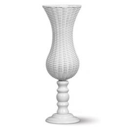 Vaso Fibra Branco H: 75 D: 26cm