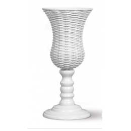 Vaso Fibra Branco H: 57 D: 22cm