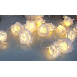 Cordão 20 Rosas Luminosas Led 3,8M A Pilha- Branco Quente
