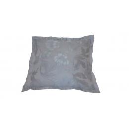 Capa Almofada 0,35X0,35Cm Branco Gelo- Jacquard