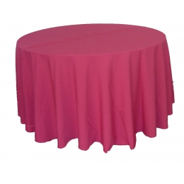 Toalha Redonda 2,50M Pink Oxford