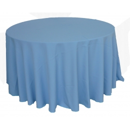 Toalha Redonda 3,00M Azul (Celeste) Glace Oxford