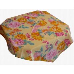 (Sobre) Toalha 1,00X1,00M Floral Amarela Algodão