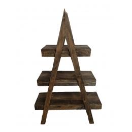 Prateleleira/ Escada Rústica Decorativa 3 Degraus 1,00x0,30M H: 1,70M