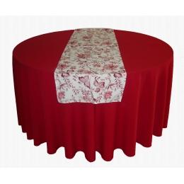 Trilho Mesa 1,70X0,48M Floral Vermelho- Algodão