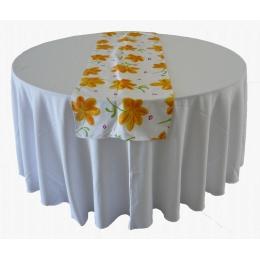 Trilho Mesa 1,70X0,48M Floral Amarela- Algodão