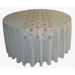 Trilho Mesa 1,70X0,48M Floral Mini rosas- Algodão