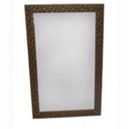 Espelho 1,00X0,50M C/ Moldura Madeira Trabalhada Marrom