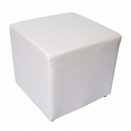 Puff Cubo Quadrado P. Branco- 0,40X0,40M H 0,40M