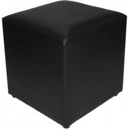Puff Cubo Quadrado P. Preto- 0,40X0,40M H 0,40M