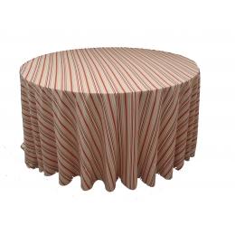 Toalha Redonda 3,00M Listrado Laranja Microfibra