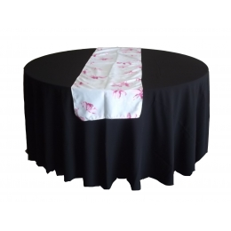 Trilho Mesa 1,70X0,48M Floral Rosa- Microfibra