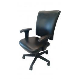 Cadeira Escritório Giratória C/ Braço Preta