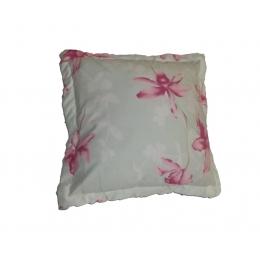 Capa Almofada 0,45X0,45M Floral Rosa- Microfibra