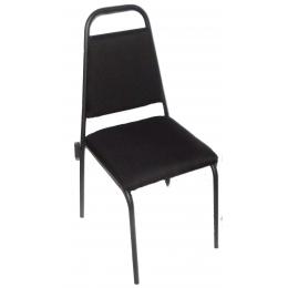 Cadeira Estofada Tipo Auditório Preta Sem Prancheta