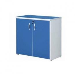 Armário (Escritório) Horizontal 2 Portas Azul 0,90X0,40M 0,8