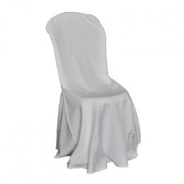 Capa De Cadeira Longa Elastano Branca
