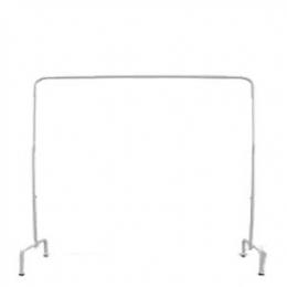 Suporte (Goleira) Ferro Branco P Cortinado 3,00X2,50 (L X H)