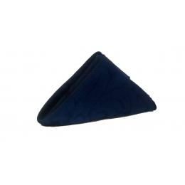 Guardanapo 0,45X0,45M Brocado Azul Marinho Jacquard