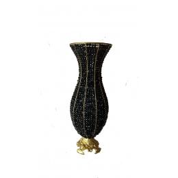 Ânfora (Vaso) Pedras Pretas H:0,60M