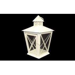 Lanterna Vintage Branca 30Cm