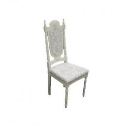 Cadeira Provençal Estofado Arabesco Azul Claro