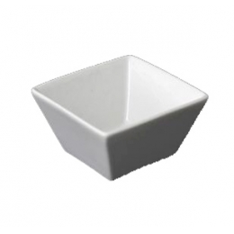 Cumbuca Quadrada Mini Bowl Porc Branca 260Ml