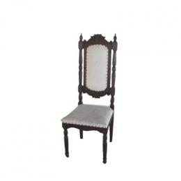 Cadeira Rustica Marrom Estofado Alta Trigo