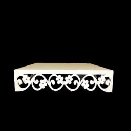 Bandeja Vazada Branca Quad Flor 25X25Cm- 750