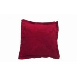 Capa Almofada 0,45X0,45M Brocada Vermelho Marsala- Jacquard