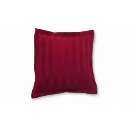 Capa Almofada 0,45X0,45M Listrada Vermelho Marsala- Jacquard