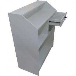 Balcão/ Guichê Mdf Branco C/ Pratel 1,20X1,20X0,45M (CxHxO)