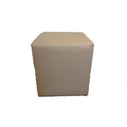 Puff Cubo Quadrado P. Gold (Champangne) - 0,40X0,40M H 0,40M