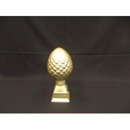 Enfeite Pinha P. Cerâmica Dourada H 36 D 14 Cm