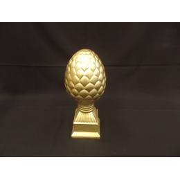 Enfeite Pinha G. Cerâmica Dourada H 43 D 18 Cm