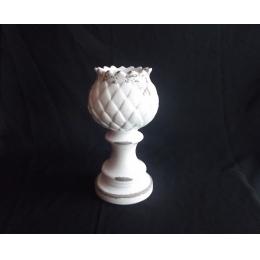 Castiçal Alcachofra Cerâmica Provençal H:22 D:10