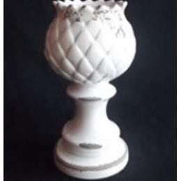 Castiçal Alcachofra Cerâmica Provençal H:27 D:10