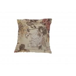 Capa Almofada 0,35X0,35Cm Floral Neo Bege- Jacquard