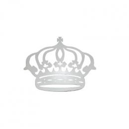 Coroa Em Mdf Branca Decorada 32X69 Cm