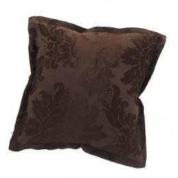 Capa Almofada 0,45X0,45M Brocada Marrom Chocolate- Jacquard