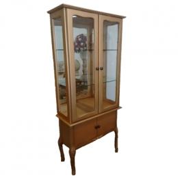 Cristaleira Dourada 2 Portas E Espelhos 1,80X0,78M