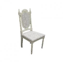 Cadeira Provençal Baixa Estof Arabesco Azul Claro