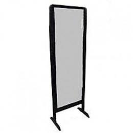 Espelho 1,60X0,60M C/ Moldura Madeira Preto