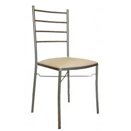 Kit Cadeira de Ferro Palito Prata